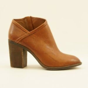 Lucky Brand Brown Leather Salza Ankle Booties